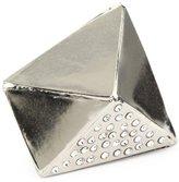MiMi by Sorrelli Silver-Tone Bold Crystal Geometric Adjustable Ring