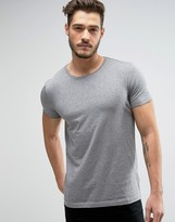 BOSS ORANGE by Hugo Boss Raw Edge T-Shirt Regular Fit in Gray Marl