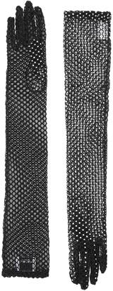 Burberry embellished fishnet gloves