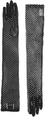Burberry Embellished Fishnet Gloves