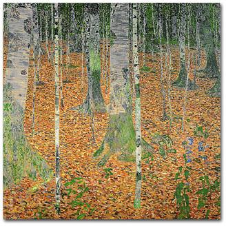 Gustav Trademark Fine Art 'The Birch Wood' Canvas Art by Klimt