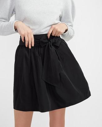 Express High Waisted Taffeta Bow Mini Skirt