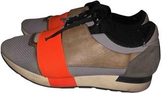 Balenciaga Race Orange Leather Trainers
