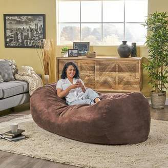 Home Loft Concepts Larson Extra Large Bean Bag Sofa Fabric: Brown