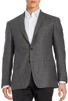 Michael Kors Herringbone Two-Button Wool-Blend Jacket
