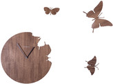 Diamantini Domeniconi Diamantini & Domeniconi - Large Butterfly Wall Clock - Walnut