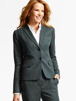 Talbots Luxe Diamond Double-Weave Double-Button Blazer