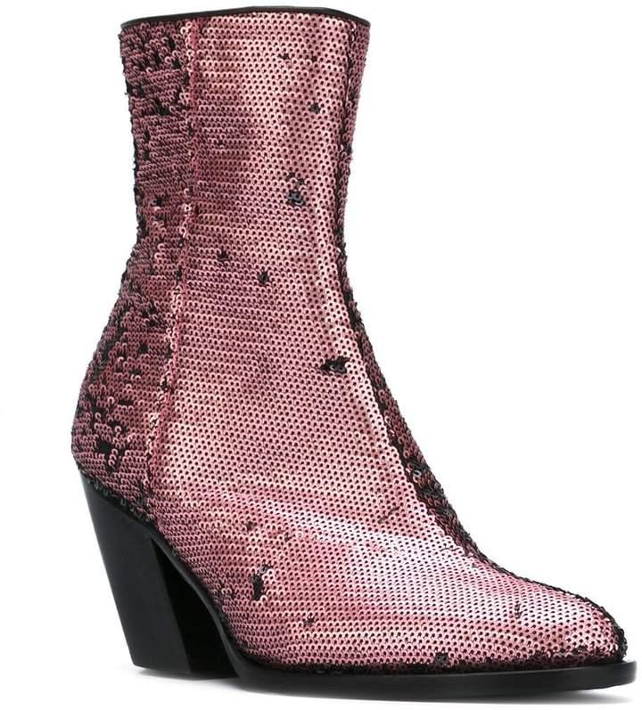 A.F.Vandevorst sequined ankle boots