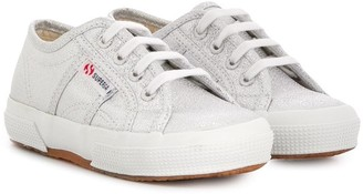 Superga metallic effect lace-up sneakers