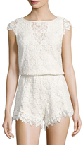 Winston White Victoria Embroidered Lace Romper