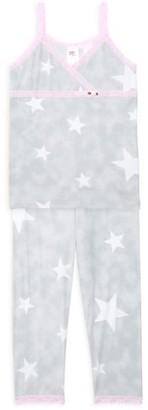Esme Little Girl's & Girl's Stars 2-Piece Camisole & Legging Pajama Set
