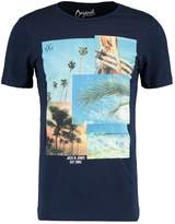 Jack and Jones JORBEACHY CREW NECK SLIM FIT Print Tshirt total eclipse