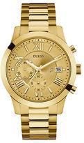 GUESS Atlas Goldtone Link Bracelet Watch