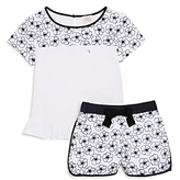 Armani Junior Girls' Embroidered Floral Top & Short Set - Little Kid