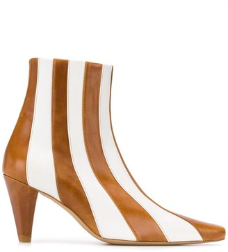 Kalda Lio striped ankle boots