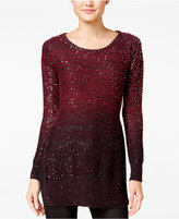 XOXO Juniors' Ombré Sequined Tunic Sweater