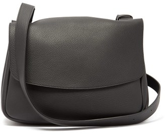 The Row Mail Small Grained-leather Satchel Bag - Black