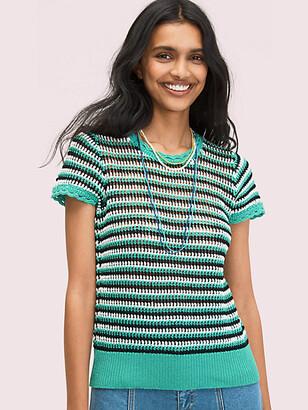 Kate Spade Crochet Shortsleeve Sweater