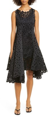 PASKAL clothes Atlas Laser Cut Butterfly Asymmetrical Fit & Flare Dress