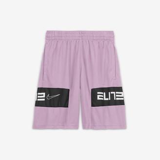 Nike Big Kids' (Boys') Graphic Basketball Shorts Elite