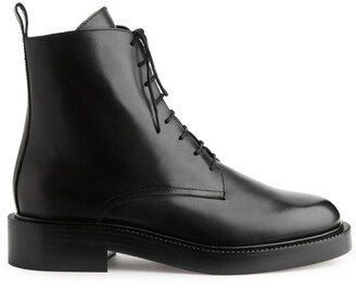 Arket Lace Up Leather Boots