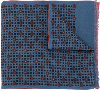 Kent & Curwen Geometric Print Reversible Scarf