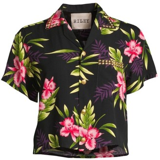 Riley Floral Print Hawaiian Shirt
