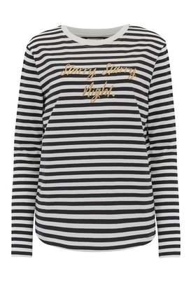 Sugarhill Boutique Black & White Striped Brunswick Starry Starry Night Top - 10 - Black/White