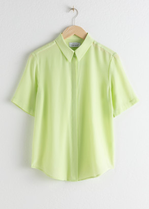 And other stories Short Sleeve Silk Button Up
