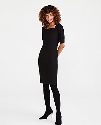 Ann Taylor The Square Neck Sheath Dress in Seasonless Stretch