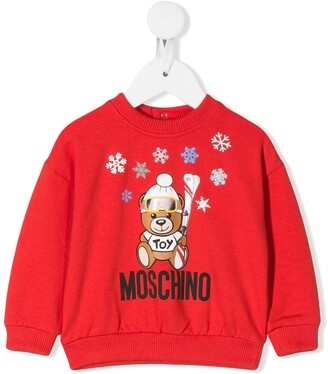 MOSCHINO BAMBINO Winter Bear Logo Sweatshirt