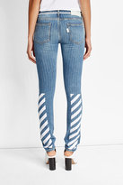 Off-White Printed Slim Jeans
