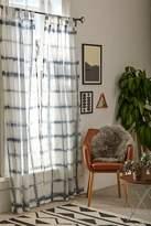 Urban Outfitters 4040 Locust Accordion Indigo Dye Curtain