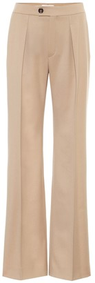 Chloã© Mid-rise wide-leg wool-blend pants