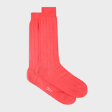 Paul Smith Men's Coral Cotton Socks