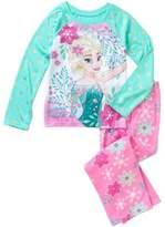 Disney Frozen Frozen Fever Girls' License Fleece Sleep Pant & Poly Top 2 Piece Pajama Set (10/12)