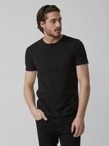Frank and Oak Crewneck Pocket T-Shirt in Black