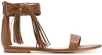 Gianvito Rossi Fringed Sandals