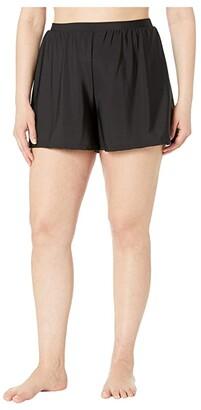 Miraclesuit Plus Size Swim Shorts (Black) Women's Swimwear