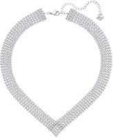 Swarovski Fit V Necklace, White, Palladium plating