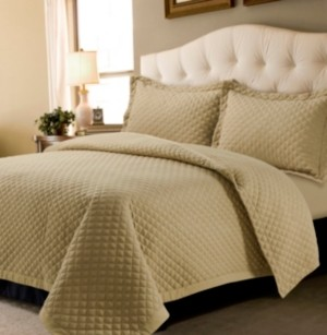Tribeca Living Brisbane Microfiber Solid Oversized King Quilt Set