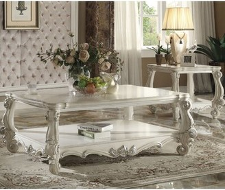 Astoria Grand Welton 2 Piece Coffee Table Set Astoria Grand Color: Bone White