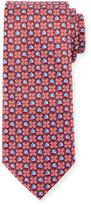 Ermenegildo Zegna Boxed Flower-Print Silk Tie, Red