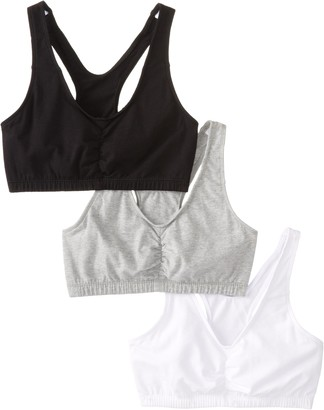Fruit of the Loom Women'sShirred Front Racerback
