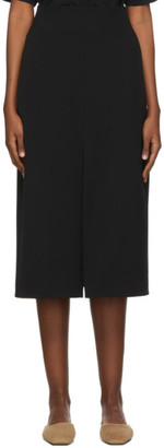 Studio Nicholson Black Tropical Wool Split Skirt