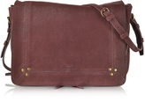 Jerome Dreyfuss Igor Bordeaux Leather Shoulder Bag