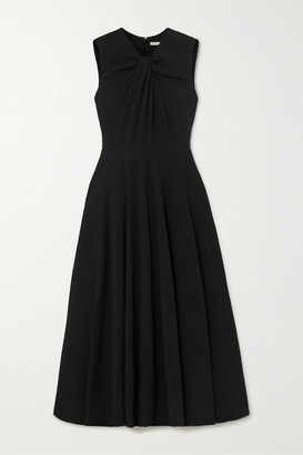 Emilia Wickstead Meryl Twisted Crepe Midi Dress - Black