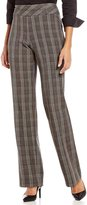 Investments the PARK AVE fit Pull-On Modern Straight Leg Glen Plaid Pants