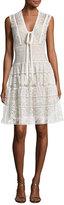 Elie Saab Crocheted Lace V-Neck Dress, Jasmine
