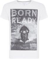 Wrangler Regular Fit Born Ready Printed R Shirt